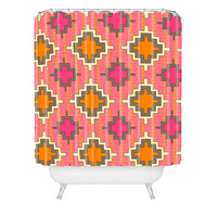 Sharon Turner Tangerine Kilim Shower Curtain