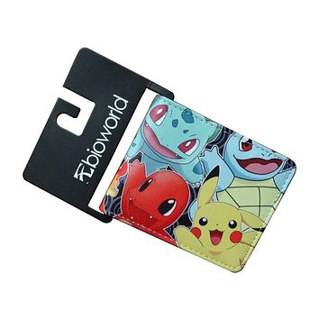 Pocket Monster Pokemon Wallets For Boy Girl Student Kawaii Pikachu Poke Ball Purse Dollar Price Leather Card Holder Bags Wallet