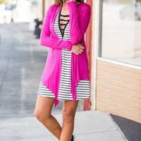 Turn To Cardigan, Fuchsia