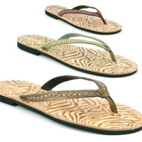 WOMENS LADIES NEW REAL LEATHER TOE POST SUMMER FLAT FLIP FLOP THONG SANDALS SIZE