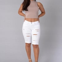 Fashion Straight Ripped  Leisure Pants