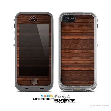The Dark Heavy WoodGrain Skin for the Apple iPhone 5c LifeProof Case