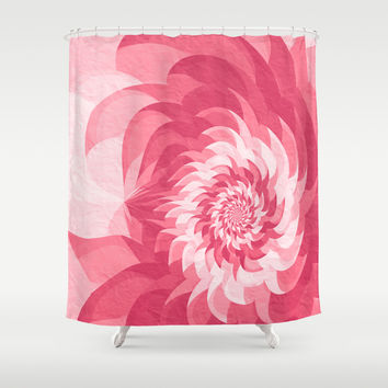 Surreal pink flower Shower Curtain by Natalia Bykova