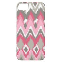 Girly Pink Ikat Chevron from Zazzle.com