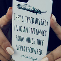 F Scott Fitzgerald iPhone Case White  Quote by NeverMorePrints