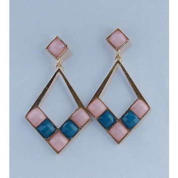 Drop triangle cut out earrings