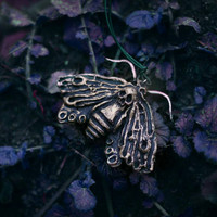 "Gothic Necklace  ""Shadow Queen "" - Moth"