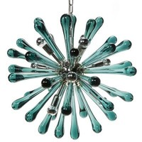 Satellite Chandelier Aqua