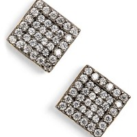 Women's Freida Rothman 'Femme' Square Stud Earrings - Gunmetal/ Gold