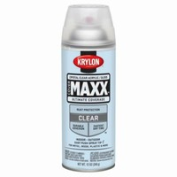 Krylon® K09116000 CoverMaxx™ Spray Paint, Gloss Crystal Clear Acrylic, 12 Oz