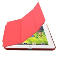 Zeimax iPad mini, iPad mini 2, iPad mini 3 Ultra Thin Magnetic Smart Cover & Back Case (Red)