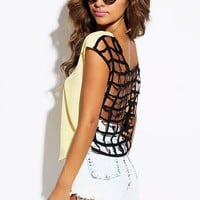 CANARY BABE CAGE TOP