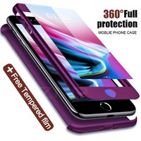 MOOPOK Luxury 360 Protective Case For iPhone 7 6 6s Plus 8 Full Cover With Tempered Glass Phone Case For iPhone 8 7 Plus X Case