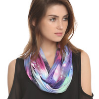 Multi Color Galaxy Infinity Scarf