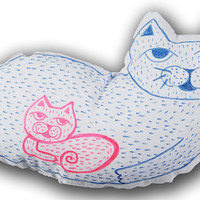 Hand painted Cat Pillow I Cat Plush I Pet Pillows I Cute I Cat Pillow I Cat I Gift I Cushion I Cool Cat I Kitten I Pillow I Gift I Art I 3D