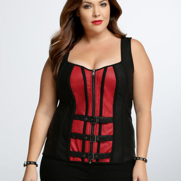 Halloween Zip Front Corset Top
