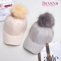 Women Solid Drake Hat Prendedores De Cabelo Winter Baseball Cap With Pom Pom Fashion Cute Drake Hat Women Gorras Ovo 5 Colors