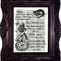 Alice in Wonderland Decoration. Alice in wonderland Quote Alice in Wonderland Art Alice in Wonderland Decor Mad Hatter Cheshire Cat C:621