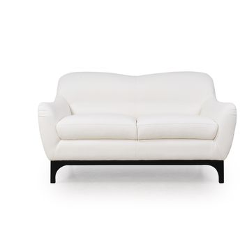Wollo Mid-Century Loveseat Pure White