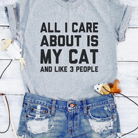 All I care about is my cat shirt funny cat shirts cat gifts tumblr graphic shirts teen shirt funny tee saying shirts all I care about shirts