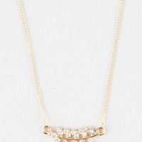 FULL TILT Dainty Rhinestone Leaf Necklace | Necklaces