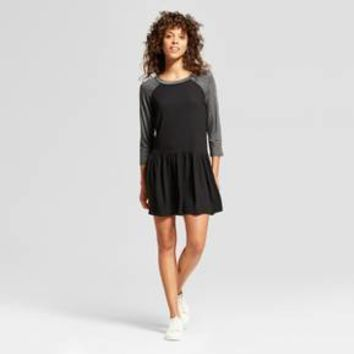 Women's Raglan 3/4 Sleeve Babydoll Dress - Soul Cake® (Juniors')