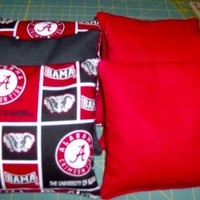 8 PC Set Of Alabama Crimson Tide Corn Hole Game Bags - Handmade Crafts by CORN HOLE BAG LADY