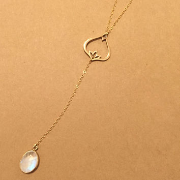 Renew Moonstone Necklace-Gold Filled