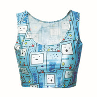 Adventure Time Digital Print Crop Top - One Size - CT-069