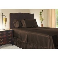 Royal Opulance Satin Full Sheet Set, Chocolate