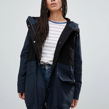 Parka London Catelyn Contrast Parka Coat at asos.com