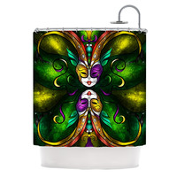 "Mandie Manzano ""Topsy Turvy"" Shower Curtain"