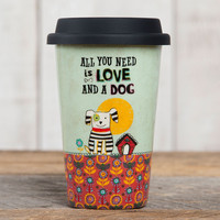 Love and A Dog Thermal Mug by Natural Life