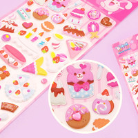 Buy Kawaii Jewelled Food Sponge Stickers - Birthday Cake at Tofu Cute