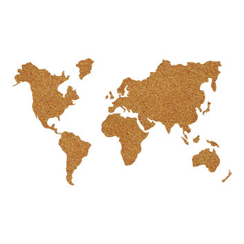 WallPops!® Die-Cut Cork World Map Pinboard Decal with Pushpins in Brown