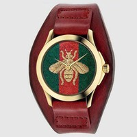 GUCCI Ladies Men Fashion Trending Quartz Watches Wrist Watch Red