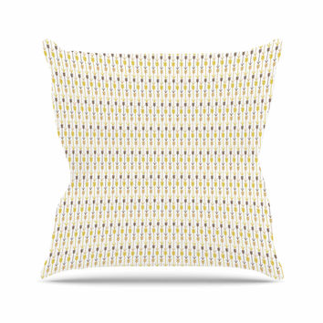"Petit Griffin ""Golden Arrows"" Gold Yellow Throw Pillow"