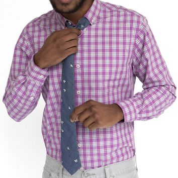 Pink Mini Check Cotton Shirt - Chipper Size XXL Available
