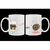 Ice Coffee and Cookie Together We Are Perfect - His and Hers Couple Mug Set