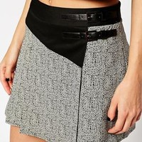 River Island Buckled Pleat Skirt