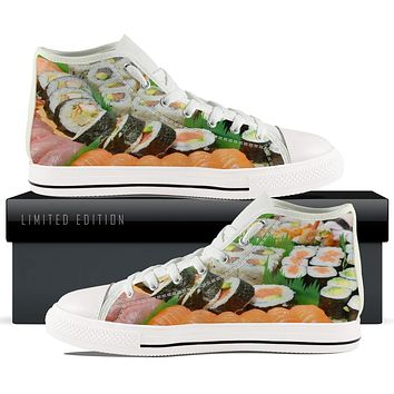 Sushi All Over WOMENS HIGHTOP - White