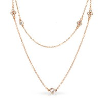 Bling Jewelry Rose Gold Rolo Chain