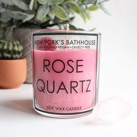 Rose Quartz Healing Crystal Soy Wax Candle