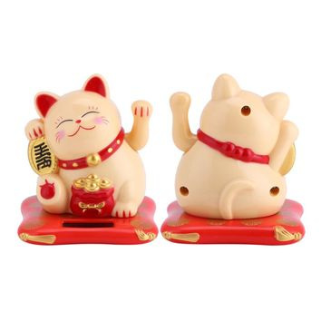 Lucky Cat Maneki-Neko Decoration For Wealth At Home Or Office