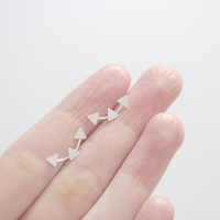 Triple Triangle Ear Climber, Silver Ear Climber, Triangle Ear Climber, Ear Crawler, Triangle Studs, Ear Sweep, Ear Cuff, Triangle Ear Jacket
