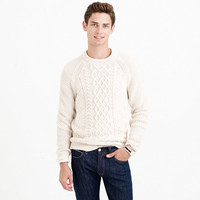 CABLE COTTON SWEATER