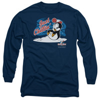 CHILLY WILLY/JUST CHILLIN - L/S ADULT 18/1 - NAVY - LG