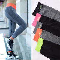 2016 New Women Leggings Surper Stretch Legging Elastic Capris Workout Pants Yuga Trousers