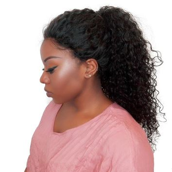 250% Density Curly Lace Front Human Hair Wigs For Black Women With Baby Hair Pre Plucked Bleached Knots You May Brazilian Remy