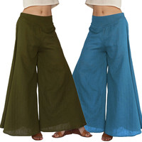 Women Fashion Perspective Middle-Waisted Pants Trousers
